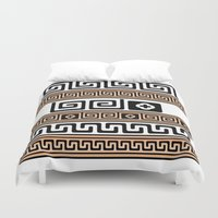 greek Duvet Covers featuring Greek Key by I Love Decor