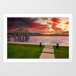 Pool Bar Sunset Boracay Art Print