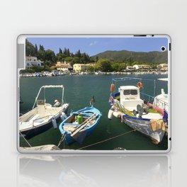 Fishing boats at Ipsos Laptop & iPad Skin