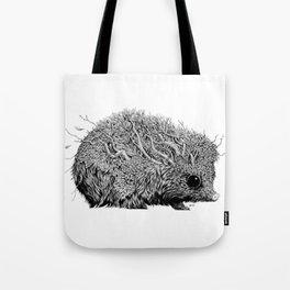 Leaf Hedgehog Tote Bag
