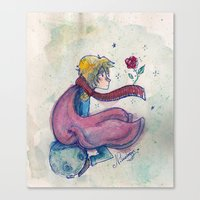 the little prince Canvas Prints featuring Little prince by Nikolazza
