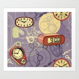 TIC TAC TIME violet Art Print