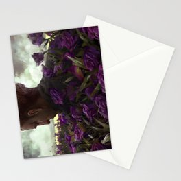 Isaac lisianthus Stationery Cards