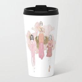 Pink and Gold Travel Mug