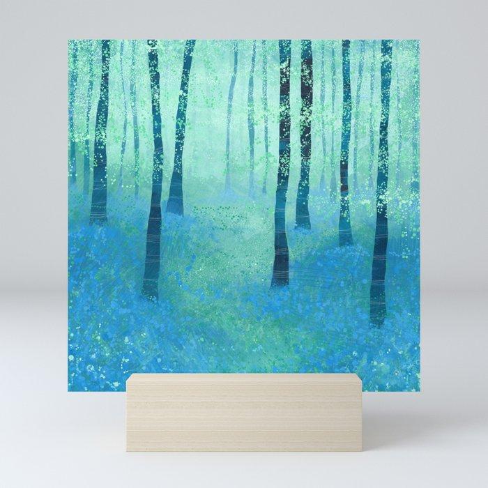 Bluebells, Challock Mini Art Print