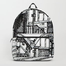 Traditional House in York, England Backpack