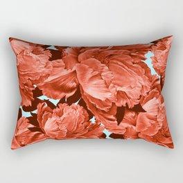 the big vermilion rose Rectangular Pillow