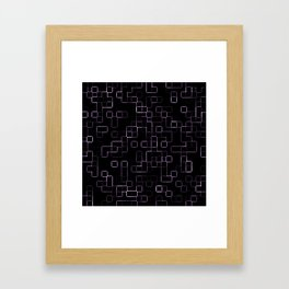Pink neon mosaic technology pattern Framed Art Print