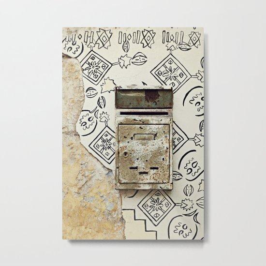 Mailbox and Mural Metal Print