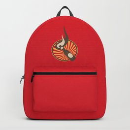Molotov Cocktail with beams Backpack