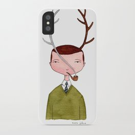 One real antler, one imagined iPhone Case