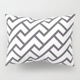 Monochrome Intricate Pattern Delta Pillow Sham