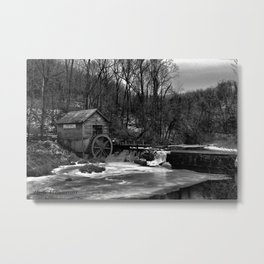 Hyde Grist Mill Metal Print