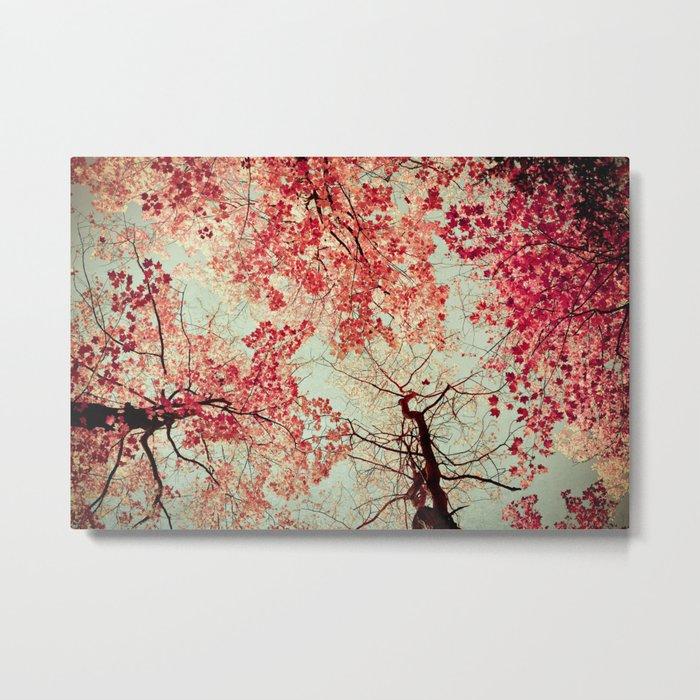 Autumn Inkblot Metal Print