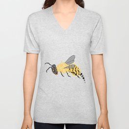 Abstract Bee Unisex V-Neck