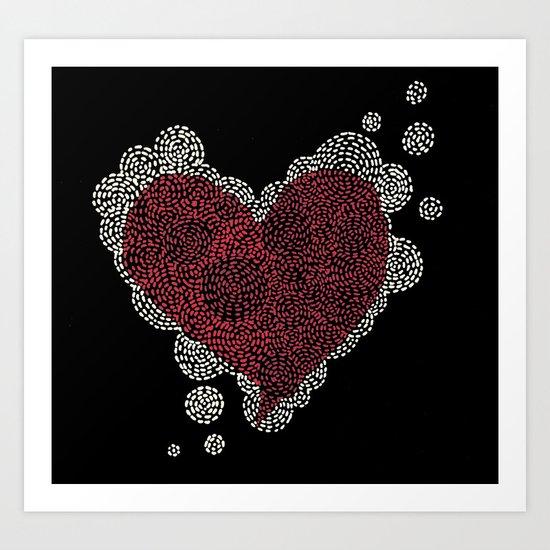 Dotted heart Art Print