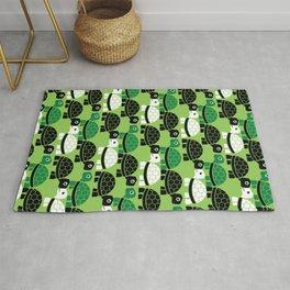 Turtle Pattern (Green/Black) Rug