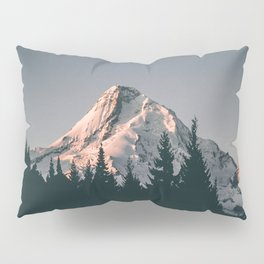 First Light on Mount Hood Pillow Sham