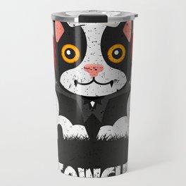 Meowcula Funny Halloween Cat Travel Mug