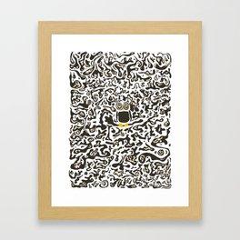 Hidden owl Framed Art Print