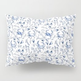 Blue Crabby Pillow Sham