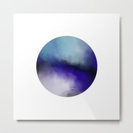Insight - Abstract black and blue painting Metal Print