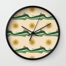 Bikes Pattern Wall Clock