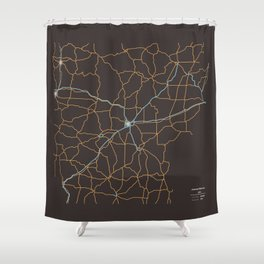 Arkansas Highways Shower Curtain