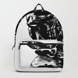 Moth and Rose skull motif , Custom gift design Backpack