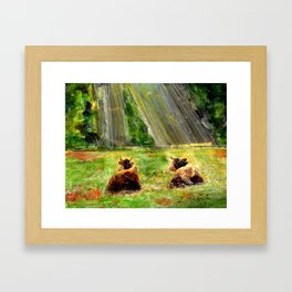 Cows of Bavaria Framed Art Print