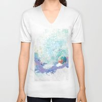 snail V-neck T-shirts featuring Snail by ARTION