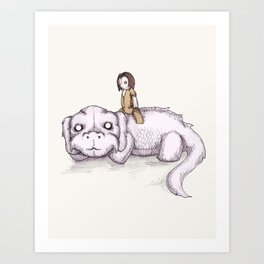 Plushie Luck Dragon Art Print