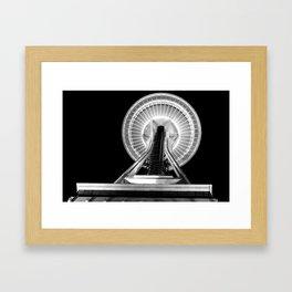 Space Needle - Black & White Framed Art Print