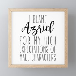 High Expectations - Azriel Framed Mini Art Print