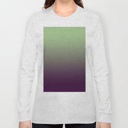Modern mint green purple ombre pattern Long Sleeve T-shirt