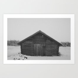 Northern Cabin Art Print