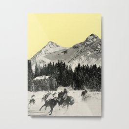 Winter Races Metal Print