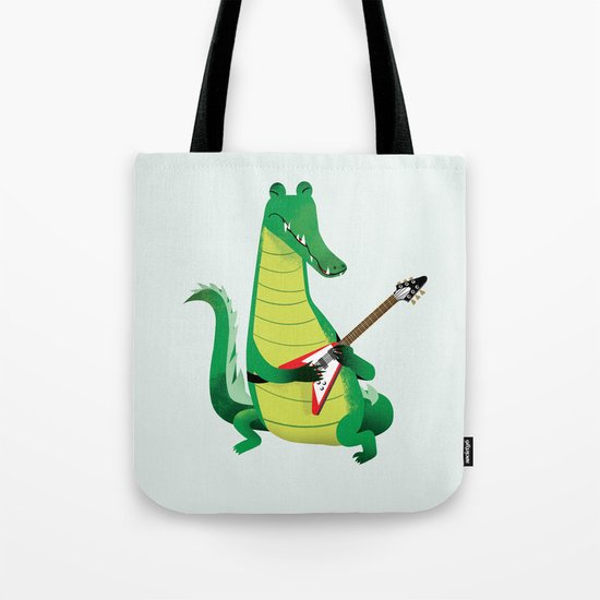 Crocodile Rock Tote Bag