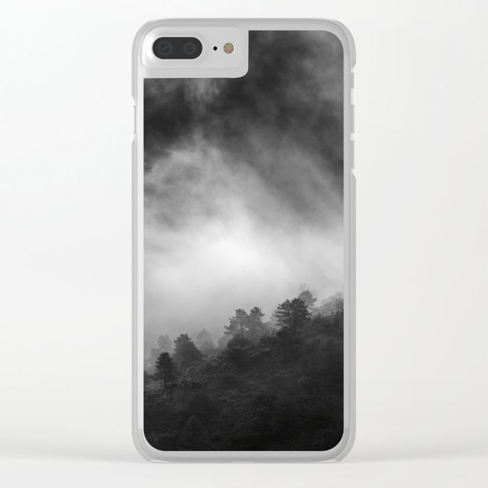 """""""Memories..."""" Into the woods. Foggy sunrise Clear iPhone Case"""