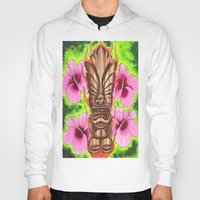 tiki Hoodies featuring Tiki by Tuff Luck Les