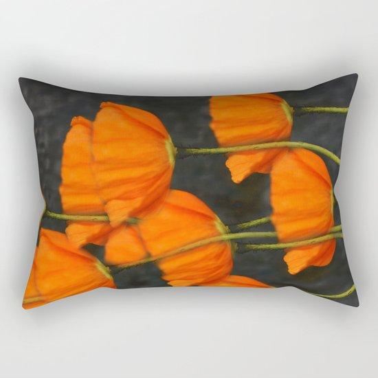 Poppies(orange). Rectangular Pillow