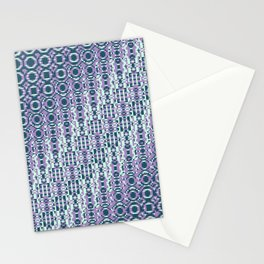 """Cos(a × (n × j^2 + k × i^2)) × 0.7 [""""70s Pattern""""] - [PIXEL ZOOM] Stationery Cards"""