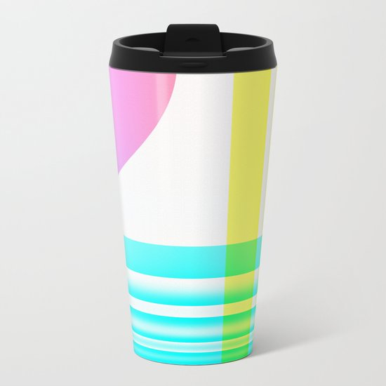 Pink Sunset Metal Travel Mug
