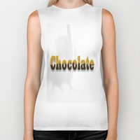 chocolate Biker Tanks featuring chocolate by scalpel