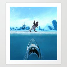 Jaws of Hoth Art Print