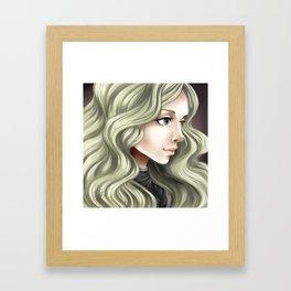 Teresa of the faint smile Framed Art Print
