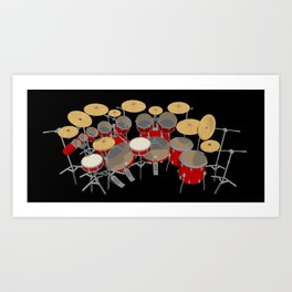 Large Drum Kit Art Print