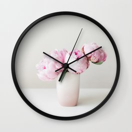 Pink Peonies 06 Wall Clock