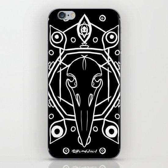 Raven Skull (All-Seeing) - White by hundilaul