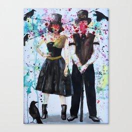SteamPunk Couple Canvas Print